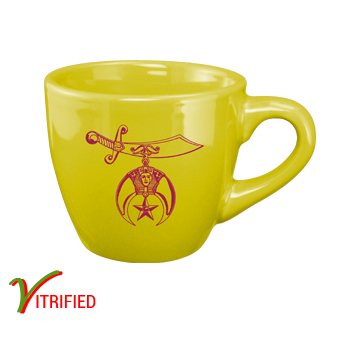 3.5 oz custom espresso cup - Bright Yellow - Free Shipping