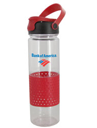 24 oz Red Sport w/Rubber Perforated Sleeve - BPA Free24 oz Red Sport w/Rubber Perforated Sleeve - BPA Free