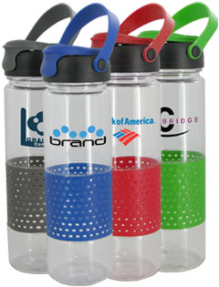 24 oz Sport w/Rubber Perforated Sleeve - BPA Free