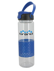 24 oz Blue Sport w/Rubber Perforated Sleeve - BPA Free24 oz Blue Sport w/Rubber Perforated Sleeve - BPA Free