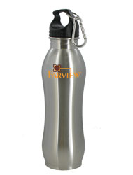 24 oz Brushed Stainless Summit Steel Bottle w/Carabiner24 oz Brushed Stainless Summit Steel Bottle w/Carabiner