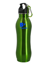24 oz Green Summit Stainless Steel Bottle w/Carabiner24 oz Green Summit Stainless Steel Bottle w/Carabiner