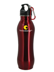 24 oz Red Summit Stainless Steel Bottle w/Carabiner24 oz Red Summit Stainless Steel Bottle w/Carabiner