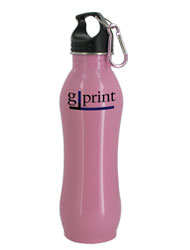 24 oz Pink Summit Stainless Steel Bottle w/Carabiner24 oz Pink Summit Stainless Steel Bottle w/Carabiner