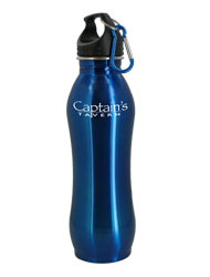 24 oz Blue Summit Stainless Steel Bottle w/Carabiner24 oz Blue Summit Stainless Steel Bottle w/Carabiner