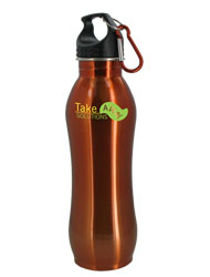 24 oz Amber Summit Stainless Steel Bottle w/Carabiner24 oz Amber Summit Stainless Steel Bottle w/Carabiner