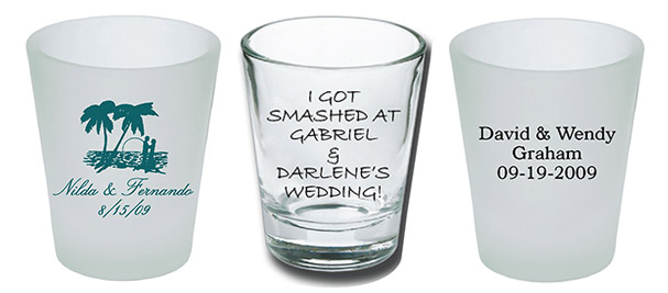 Custom Shot Glasses for Your Wedding